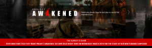 A cropped version of the banner displayed on the Project Awakened site on March 19, 2013